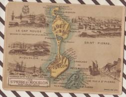 4AG1635 CHROMO HACHETTE Géographique + Vues Département  COLONIE DE SAINT PIERRE ET MIQUELON PRES TERRE NEUVE - Géographie