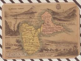 4AG1636 CHROMO HACHETTE Géographique + Vues Département  GUADELOUPE BASSE TERRE GRANDE TERRE - Géographie