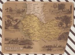 4AG1638 CHROMO HACHETTE Géographique + Vues Département  SENEGAL SAINT LOUIS - Géographie