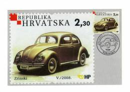 Croatia / 2008 / Volkswagen VW Beetle / Maximum Card / Limited Edition - Kroatië