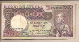 Angola - Banconota Circolata Da 500 Scudi - 1973 - Angola