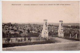 REF 202 CPA 02 PONTAVERT cimetiere militaire et ossuaire de 1869 soldats inconnus