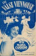40-60 PARTITION MARIA CANDIDO UNE VALSE VIENNOISE HAVET GUITTON CHARLES HUMEL 1954 ACCORDÉON - Musique & Instruments