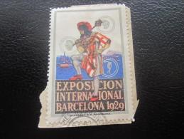 Vignette Label Sticker -Aufkleber Viñeta Etichetta * Exposition Internationale De Barcelone Barcelona Espagne 1929 - Erinofilia