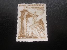 Vignette Label Sticker -Aufkleber Viñeta Etichetta * Valence Valencia Espagne Espana 1950/55 Fiest Centenaria De Sa Mort - Erinofilia