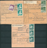 GERMANY 1975-77 LOT OF 3 PACKET RECEIVE RECEIPTS ? NICE STAMPS & POSTMARKS -CAG 221014 - Covers & Documents