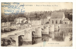 cp, 87, Saint-Junien, Pont et NOtre-Dame du Pont, voyag�e