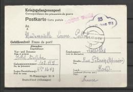 Guerre 39/45 Correspondance Kriegsgefangenenpost  95 Stammlager XI B  15.4.42 Linselles (2 Scans ) - Non Classificati