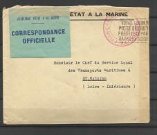 guerre 39/45 correspondance 103 secr�tariat etat de la marine  Saint Nazaire 4.4.41