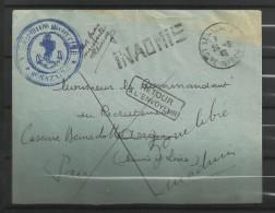 guerre 39/45 correspondance 109  retour envoyeur inadmis  Saint Nazaire 24.9.40 Angers 25.9.40