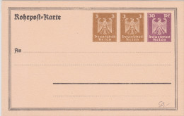 D. Reich BESSERE ROHRPOST-Ganzsache.  MK - Allemagne
