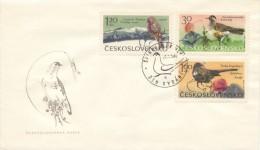 Czechoslovakia / First day cover (1965/27), Spindleruv Mlyn (a): Mountain birds (Krkonose Mountains park)
