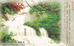 China - Baoding Waterfall, Ziyuan County of Guangxi Zhuang Autonomous Region, Prepaid Card