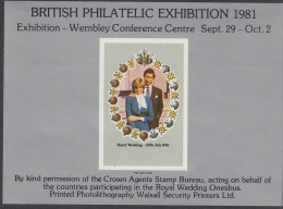 GB, 1981 PHILATELIC EXH IMPERF MINISHEET MNH - Andere