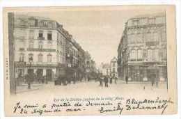 CPA BELGIQUE MONS RUE DE LA STATION - Belgique