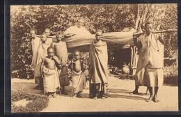 Une Princesse Portée En Hamac . Mission Des Pères Blanc . - Ruanda-Urundi