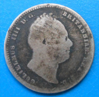 Grande Bretagne Great Britain 1 Shilling 1836 Km 713 - 1816-1901 : Frappes XIX° S.