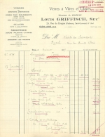 PARIS  VI RUE DU DRAGON VERRES A VITRES LOUIS GRIFFISCH   1927 - 1900 – 1949