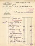 PARIS  VI RUE DU DRAGON VERRES ET VITRES MAISON CREPIN LOUIS GRIFFISCH SUCCESSEUR 1923 - 1900 – 1949