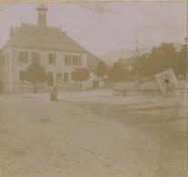 Carte Photo  Stereo  Villard De Lans  La Mairie 1907 - Villard-de-Lans