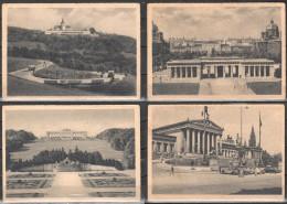 Austria - Wienna 14 Postcards -  Karlskirche, Schӧnbrunn, Parlament, Burgtor, Opernhaus, Hochhaus Etc. - Österreich