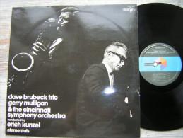 33 T  LP DAVE BRUBECK TRIO GERRY MULLIGAN THE CINCINNATI SYMPHONY ORCHESTRA  ELEMENTALS BIEM 510 022T MCA RECORDS 1970 - Jazz