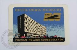 Hotel Orbis Merkury, Poland - Original Hotel Luggage Label - Sticker
