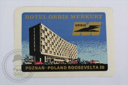 Hotel Orbis Merkury, Poland - Original Hotel Luggage Label - Sticker - Hotel Labels