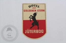 Hotel Zum Golden Stern, J�terbog - Germany - Original Hotel Luggage Label - Sticker