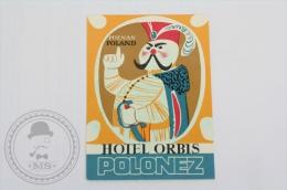 Hotel Orbis Polonez - Poznan, Poland - Original Hotel Luggage Label - Sticker