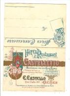 GENES - GENOA - GENOVA - ITALIE - HOTEL RESTAURANT CASTELLETTO - RUE BALBI 188 - DEPLIANT - Genova (Genoa)