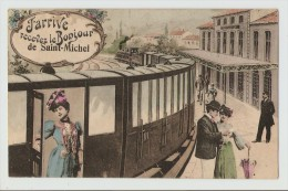 73 Dép.- J'Arrive Recevez Le Bonjour De Saint-Michel.  Carte Postale Ayant Voyagé En 1918, Dos S - Saint Michel De Maurienne