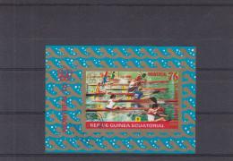 Jeux Olympiques - Aviron - Münich 72 - Réublique De Guinée Equatoriale - Bloc Oblitéré De 1976 - NON Dentelé - Estate 1976: Montreal