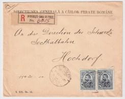 Rumänien, 1911, 25 B. Paar, Reco! , #84 - Covers & Documents