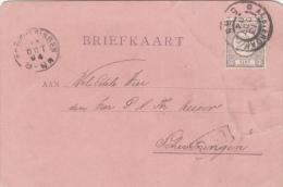 Briefkaart 13 Okt 1894 Proefstempel Grootrond Amsterdam Naar Scheveningen (kleinrond) - Postal History