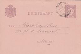 Briefkaart 7 Mei 1895 Proefstempel Dubbelring Amsterdam - Postal History