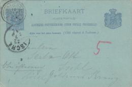 Briefkaart 19 Sep 1895 Proefstempel Dubbelring 's Gravenhage - Postal History