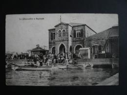 V44. CPA LIBAN LE DEBARCADERE A BEYROUTH