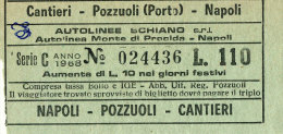 NAPOLI CANTIERI POZZUOLI (PORTO) AUTOLINEE SCHIANO LIRE 110 1968