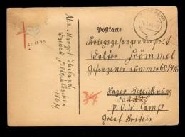 MARCOPHILIE CPA PRISONNIER N° 2225 P.O.W.CAMP GREAT BRITAIN  ,RADEBERG - Guerra De 1939-45