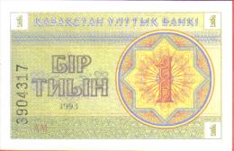 KAZAKHSTAN - BILLETE DE 1 TYIN, AÑO 1993 - Kazakhstán