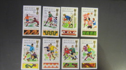 Ruanda MNH ** 1970 Mi. 384-391 Football WM Mexiko 1970
