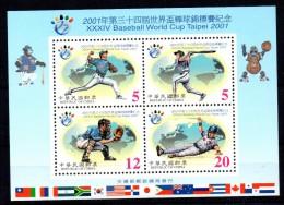 TAIWAN - BASEBALL - BLOC-FEUILLET - 2001 - - 1945-... République De Chine