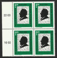 """Österreich 1993   """"150. Geburtstag Von Peter Rosegger""""  4er-Block  ÖS 5,50   ANK Nr. 2127 **/ Feinst Postfrisch - 1945-.... 2nd Republic"""