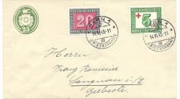1945 25 Rp Tüblibrief Mit Pax Zusatzfrankatur Sehr Schön - Ganzsachen
