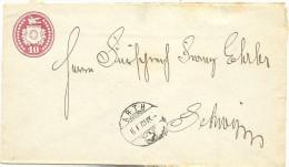 187310 Rp Tüblibrief Von Arth Nach Schwyz - Enteros Postales