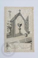 Antique Paper Lace Holy Card - Jesus Crist - Grail  - Holy Lace Edited By L. Turgis, Paris - Imágenes Religiosas