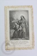 Antique Paper Lace Holy Card - Jesus - Holy Lace L. Turgis, Paris - Imágenes Religiosas