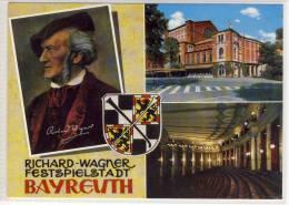 BAYREUTH - Richard - Wagner, Festspielstadt, Mehrbildkarte , Schöner Stempel Bamberg - Bayreuth