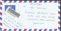 Bahrain Registered Airmail 2002 Shaikh Hamad Bin Isa Al Khalifa 400f Dull Green, 150f, Charity Stamp - Bahrain (1965-...)
